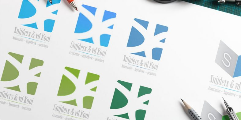Schets logo ontwerp Snijders & van der Kooi